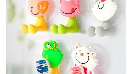 Veselý držák na zubní kartáček pro děti - různé druhy