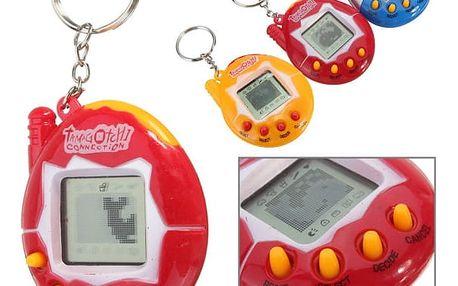Oblíbená retro hračka pro děti - Tamagotchi - modrá - dodání do 2 dnů