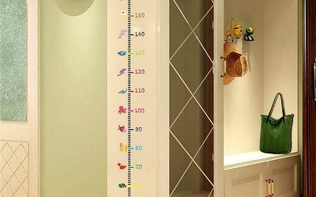 Nástěnný dětský metr s motivem mořských živočichů - 50 až 170 cm