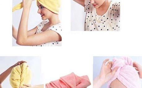 Ručníkový turban pro mokré vlasy