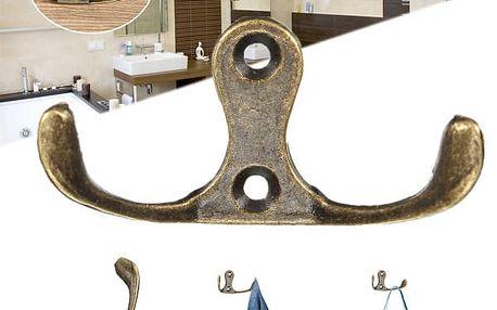Věšák se dvěma rameny - bronzová barva