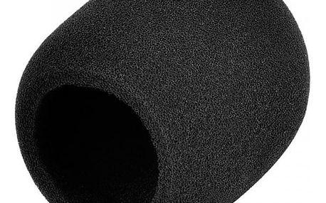 Molitan v černé barvě na mikrofon