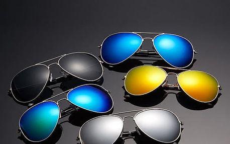 Sluneční brýle pilotky - mix barev
