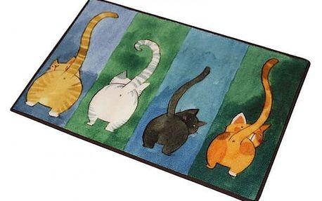 Protiskluzová rohožka s motivem koček