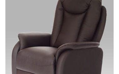 Relaxační křeslo TV-7039 BR - koženka tmavě hnědá