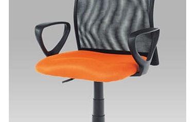 Kancelářská židle KA-B047 ORA - látka oranžová/černá