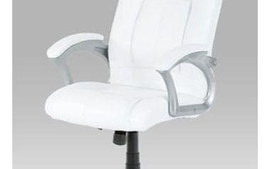 Kancelářské křeslo KA-N637 WT - bílá koženka