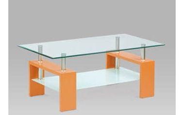 Konferenční stůl AF-2024 ORA, oranžová/sklo čiré