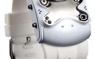 Pánské futuristické hodinky s gumovým páskem - bílá - dodání do 2 dnů