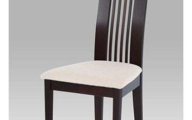 Jídelní židle BC-2411 BK - wenge/potah krémový