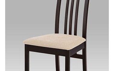 Jídelní židle masiv buk, barva wenge, potah krémový