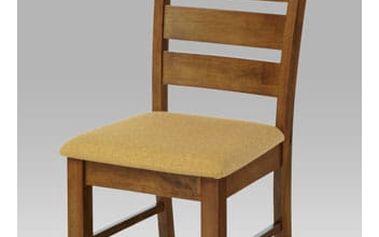 Jídelní židle WDC-181 WAL2 - ořech/potah krémový
