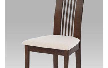 Jídelní židle BC-2411 WAL - ořech/potah krémový