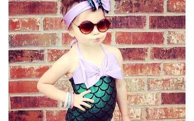 Plavky pro malé mořské panny s čelenkou