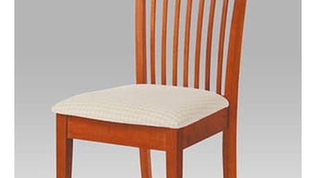 Jídelní židle YAC213S TR2 - třešeň/potah světlý se vzorem