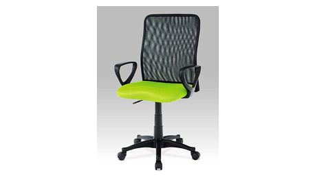 Kancelářská židle KA-B047 GRN - látka zelená/černá