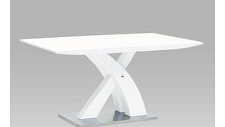 Jídelní stůl HT-651 WT 150x90 cm - vysoký lesk bílý