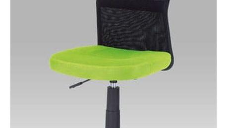 Kancelářská židle KA-2325 GRN - látka zelená/černá