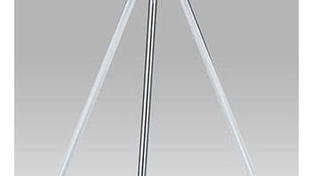 Přístavný stolek 83467-01 WT, vysoký lesk bílý / chrom