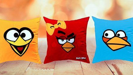 Licenční polštářky s motivy ANGRY BIRDS