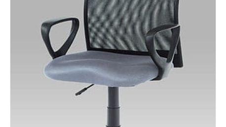 Kancelářská židle KA-B047 GREY - látka šedá/černá