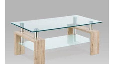 Konferenční stolek AF-1024 SRE 110x60x45 cm - san remo/sklo/chrom