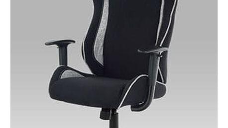 Kancelářská židle KA-E550 BK - látka černá/bílá
