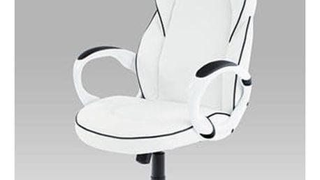 Kancelářská židle KA-E490 WT - bílá koženka