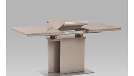 Jídelní stůl rozkládací HT-655 LAN 120+40x80 cm - vysoký lesk lanýžový