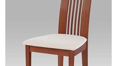 Jídelní židle BC-2411 TR3 - třešeň/potah krémový