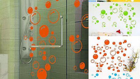 Samolepka v podobě barevných bublin