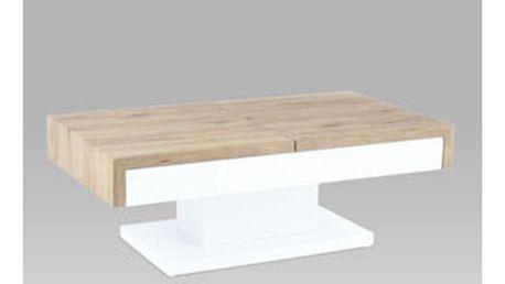 Konferenční stolek AHG-174 SRE 110x60x40 cm - san remo/vysoký lesk bílý