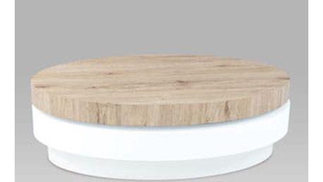 Konferenční stolek AHG-124 SRE 100x60x32 cm - san remo/vysoký lesk bílý
