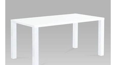 Jídelní stůl AT-1008 WT 160x90 cm - bílý