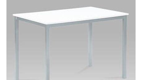 Jídelní stůl GDT-202 WT 110x70 cm - MDF bílá/šedý lak