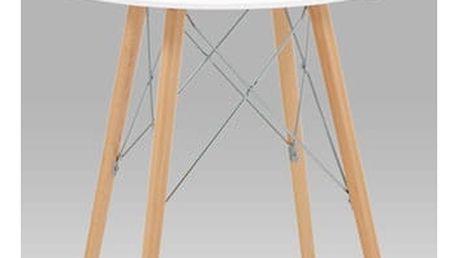 Jídelní stůl T-600 WT průměr 70cm - bílá/natural