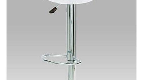 Barová židle AUB-1030 WT - chrom/plast bílý