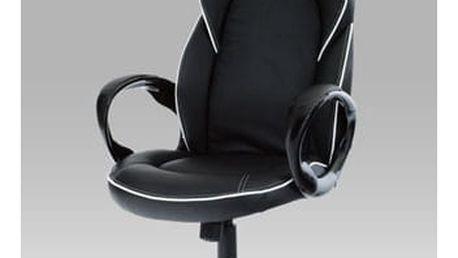 Kancelářská židle s podhlavníkem KA-E490 BK - koženka černá