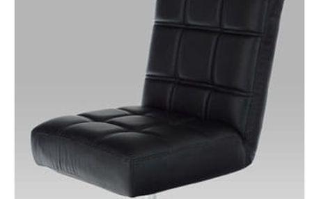 Relaxační křeslo HL-460 BK - chrom/koženka černá