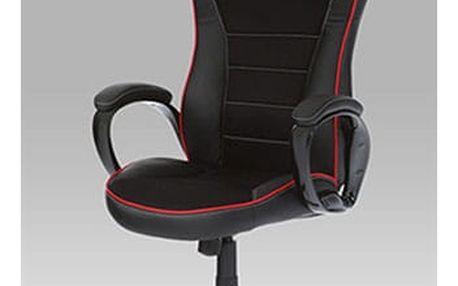 Kancelářská židle KA-E320 BK - látka/koženka černá