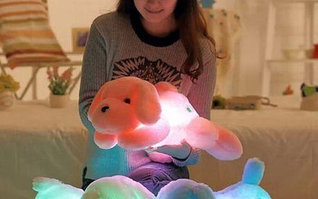 Velký plyšový pejsek svítící ve tmě - 50 cm