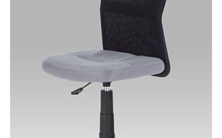 Kancelářská židle KA-2325 GREY - látka šedá/černá