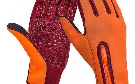 Fleecové lyžařské rukavice s možností ovládat dotykové displeje