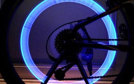 Barevné svítící ventilky na kolo i na auto 6 ks