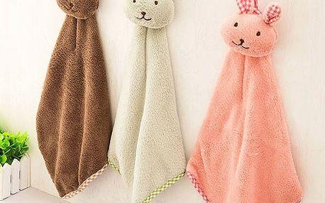 Dětský ručník v podobě králíčka