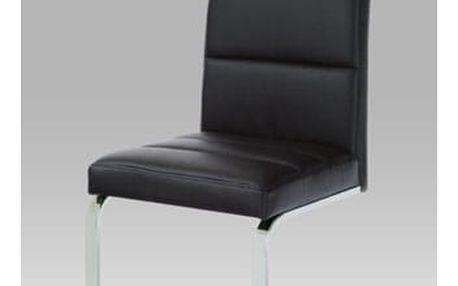 Jídelní židle B931N koženka černá/chrom