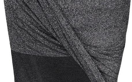 Černá třpytivá sukně s překládaným efektem Noisy May Infinity