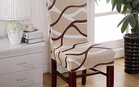 Potah na židli - pruhy - 1 kus - dodání do 2 dnů