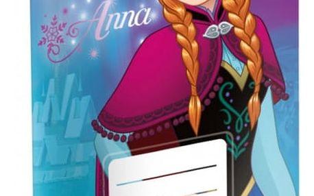 Školní sešit - Ledové království - Anna - č. 524 - 5 kusů - dodání do 2 dnů