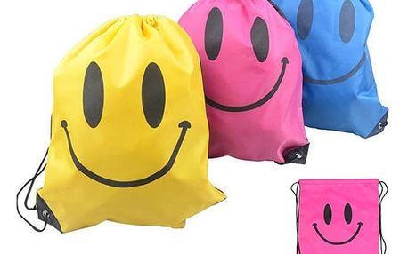 Stahovací sáček s usmívající se tváří